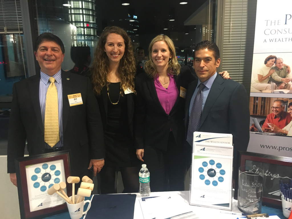 The Prosperity Team at the Maryland Construction Network's Direct Connect  Event!  WIlliam Martin, Maggie Spivak, Erin Ansalvish and Don Hoffman pictured