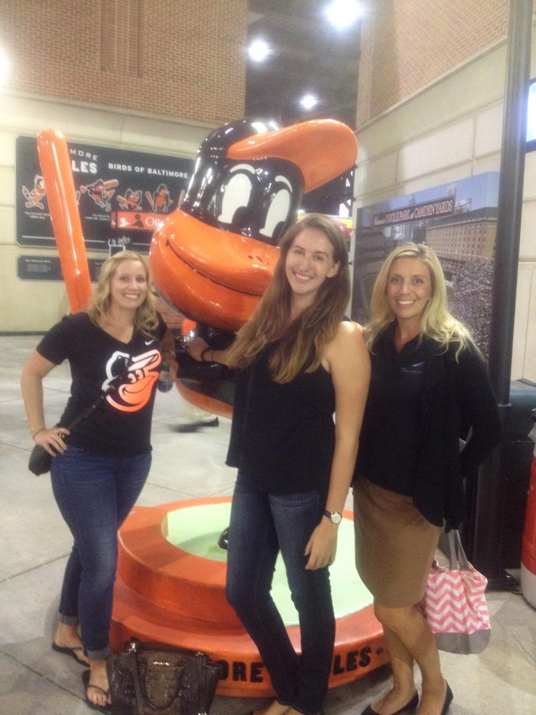 Erin Ansalvish, Maggie Spivak & Lauren Rebbel spent a lovely evening networking and supporting their hometown Orioles!