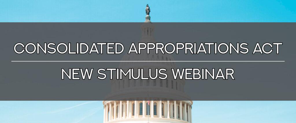 New Stimulus Webinar