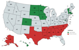 Healthcare Map By State