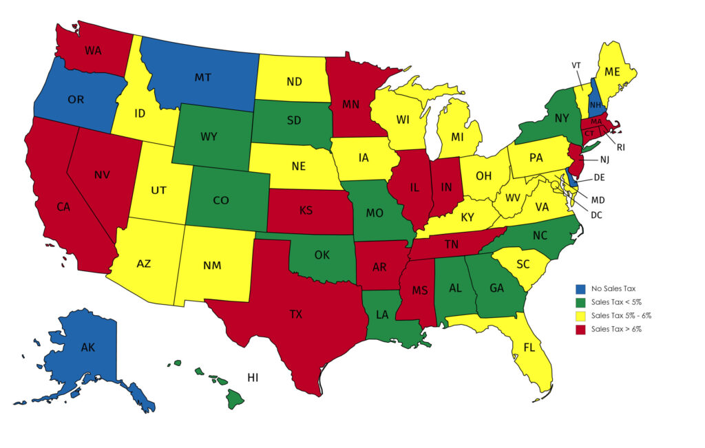 Sales Tax Map By State