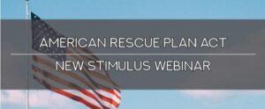 American Rescue Plan Act Webinar Banner